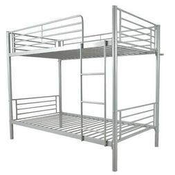 Metal Bunk Beds Frame over Twin Ladder for Kids Adult Childr