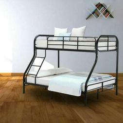 Metal Bunk Beds Frame Twin Over Full Size Ladder Kid Teen Do