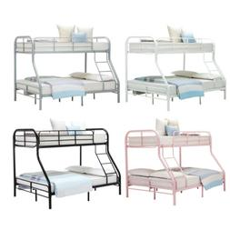39c8ce5c04393 Metal Bunk Beds Twin over Full Size Ladder Kid Teen Dorm Lof