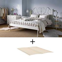 Ikea Full Size Metal Country Style Bed Frame with Slatted Ba