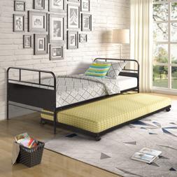 Metal Daybed Twin Bed Frame Stable Steel Slats Platform Base