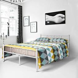 GIME Metal Full Size Bed Frame, Yanni Adrina 10 Leg Platform