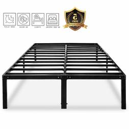 Metal Platform Bed Frame Heavy Duty 14 18 Inch No Box Spring
