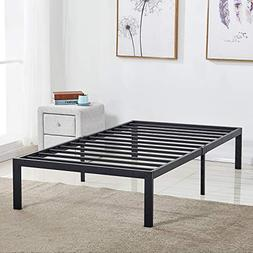 VECELO 14-Inch Metal Platform Bed Frame Heavy Duty Steel Sla