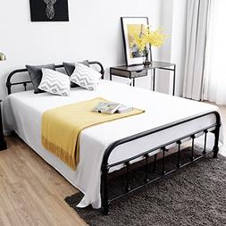 Giantex Metal Platform Bed Frame with Headboard and Footboar