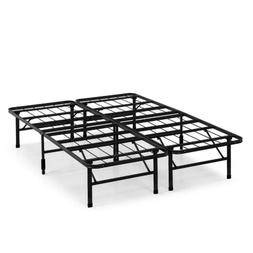 """Metal Platform Bed Frame Replace Box Spring 14"""" Tall Underbe"""