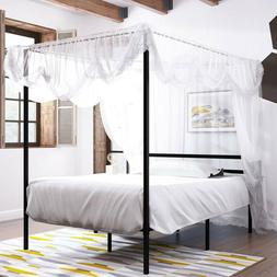 YITAHOME Metal Platform Full Size Canopy Bed Frame Mattress