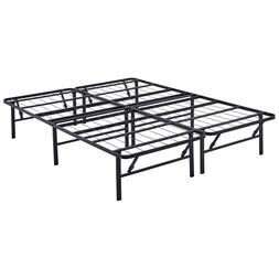 queen size metal steel foldable bed frame