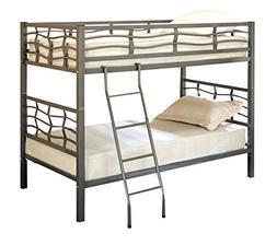Full Size Bed Frame Upholstered Gray Platform Linen Headboar