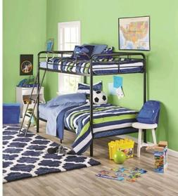 Metal Twin over Twin Steel Bunk Beds Frame Ladder Bedroom Do