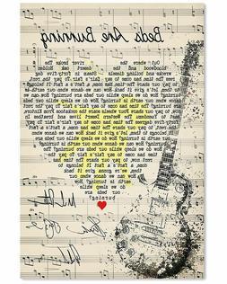 Midnight Oil Beds Are Burning Lyrics Song  Signed Hand Yello