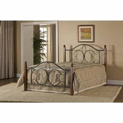 Milwaukee Wood Post Panel Bed without Rails, Full