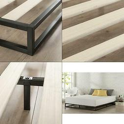 Modern 6 Inch Platform Low Profile Bed Frame, Queen Size