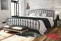 Modern Metal Full Queen King Size Platform Panel Bed Frame H