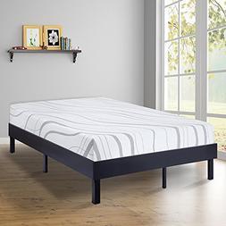 SLEEPLACE 14 Inch Modern Wood Platform Bed Frame / Steel Sla