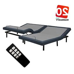 Motorized Comfort Adjustable Bed Base - Wireless Remote Cont