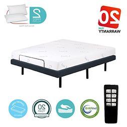 """Motorized Comfort Adjustable Bed Base + 8"""" Cool & Gel Infuse"""