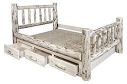 Montana Woodworks MWSBKV Montana Collection King Bed with St