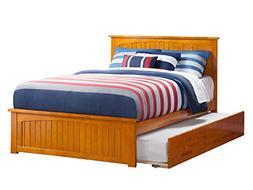 Atlantic Nantucket Caramel Latte Full Bed with Matching Foot