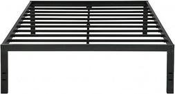 Sleeplace New 18 Inch Solid Metal Steel Slat Bed Frame, King