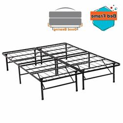 New Modern Bi-Fold Folding Platform Metal Bed Frame Mattress