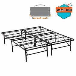New Modern Bi-Fold Folding Platform Metal Bed Frame Mattress