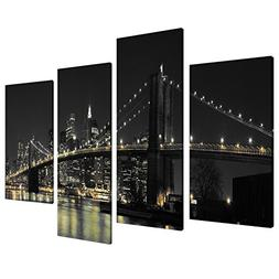 Large New York City Canvas Wall Art Pictures of NYC Skyline
