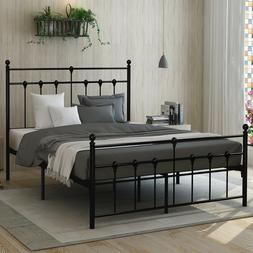 no box spring needed metal bed frame