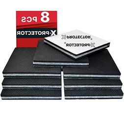 "Non Slip Furniture Pads X-PROTECTOR -Premium 8 pcs 4"" Furn"