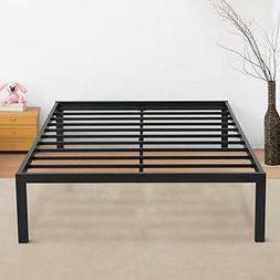 Olee Sleep New Dura Metal Steel Slate Bed Frame King Black