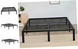 Olee Sleep 14 Inch Tall T-2000 Steel Slat Bed Frame/Black, T