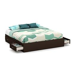 South Shore Step One Platform Bed with 6 Drawers, King 78-In