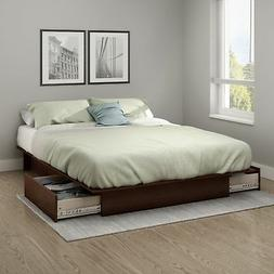 South Shore Step One Full/Queen Platform Bed  with drawers,