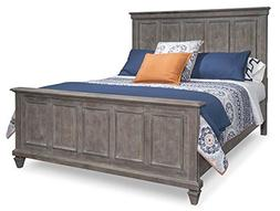 Magnussen Furniture Panel Bed in Dovetail Gray
