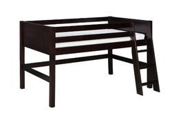 Camaflexi Panel Style Solid Wood Low Loft Bed, Twin, Side An