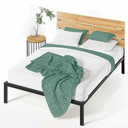 Zinus Paul Metal and Wood Platform Bed with Wood Slat Suppor
