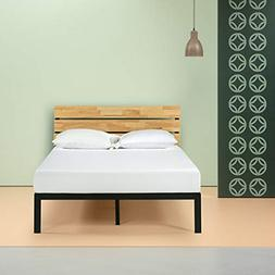 paul metal and wood platform bed