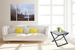 Olee Sleep Pearl Granite Top Metal Frame Coffee Table/ Tea T