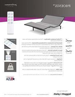 Leggett & Platt Phoenix Adjustable Bed with Wireless Remote