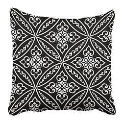 Emvency Pillow Covers Print Damask in the Style of Baroque B