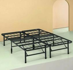 Platform Bed Frame, King-Size Box Spring Replacement Mattres