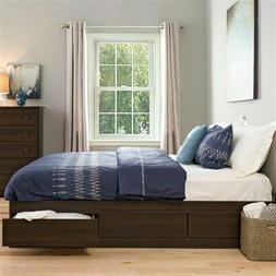 Platform Bed Frame King Size With 6 Storage Drawers Dark Esp