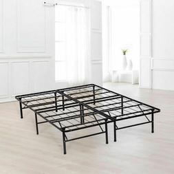 Bed Frame Platform Folding Bed Frame Metal Base Mattress Fou