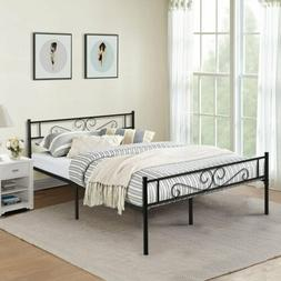 Platform Bed Frame Queen Twin Full Size Metal Bed Mattress F