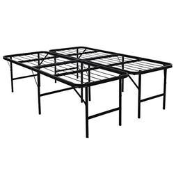Platform Bed Frame Steel Heavy Duty Queen Size Foldable Bedr