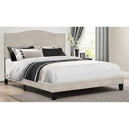 Hillsdale Furniture Platform Bed in One in Fog Fabric