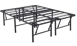 Platform Full Size Bed Frame, 18 Inch High Metal Mattress St