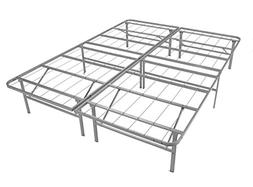 Mantua Premium Platform Bed Base in Silver, Fits Full Mattre