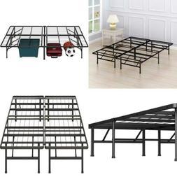 Platform Metal Bed Frame FOR  Memory Foam or Mattress TWIN F