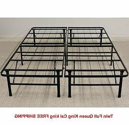 Platform Metal Bed Frame Twin Full Queen King Foldable No Bo